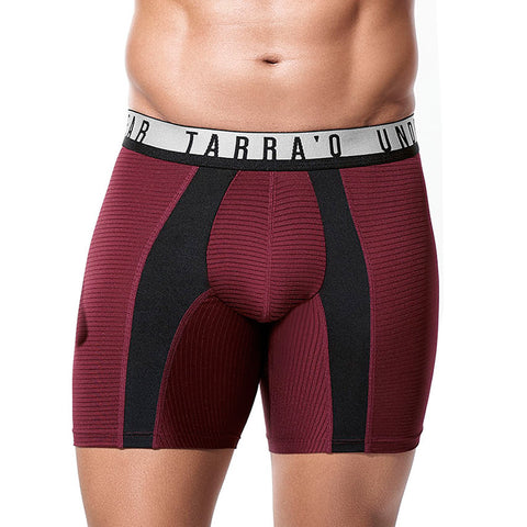 Tarrao Boxer Long Arlo Microfibre Men's Underwear, Wine Red