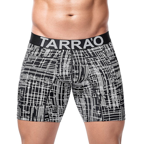 Tarrao Boxer Long Barra Microfibre Men's Underwear, Black