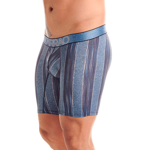 Tarrao Boxer Long Élite 6 Microfibre Men's Underwear, Blue