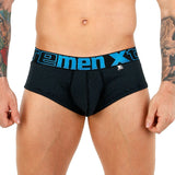 Xtremen Brief Miniprint Microfibre Men's Underwear, Black/Turquoise
