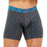Xtremen Boxer Long Estampado Miniprint Anclas Men's Underwear, Dark Grey