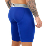 Xtremen Boxer Xtra Long Deportivo Up Microfibre Men's Underwear, Blue