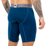 Xtremen Boxer Xtra Long Deportivo Up Microfibre Men's Underwear, Petrol Blue