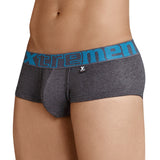 Xtremen Brief Sesgado en Pinza Cotton Men's Underwear, Dark Grey