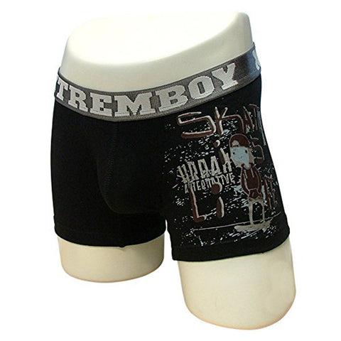 Xtremen Sports Junior Boxer Graffic, Boy's Support Underwear, Black