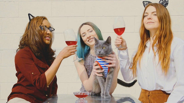 Pour a Meowtini and Party with your Pet:   Q&A with the Creators of Cat Wine