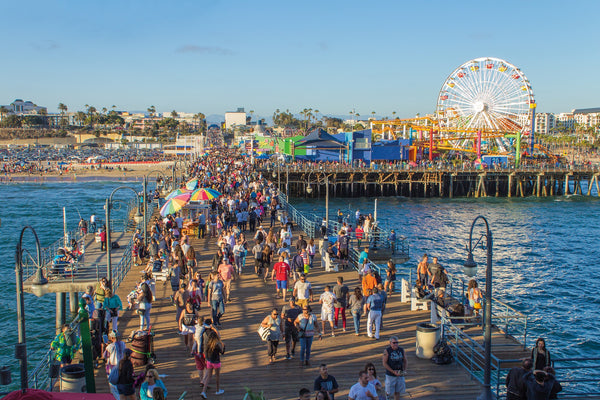 Santa Monica Pier and end of Route 66