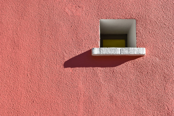 pink wall with window