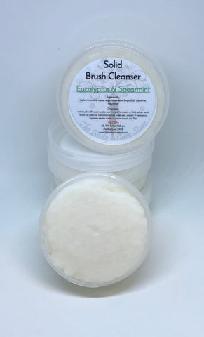 Eucalyptus & Spearmint - Solid Brush Cleanser