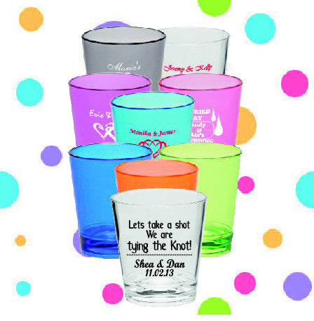 Shot Glasses - Let's Take a Shot - Qty. 36 - Wedding Favors Plus - 1