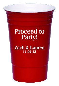 Party Cup - Proceed to Party! Qty. 200 - Wedding Favors Plus - 1