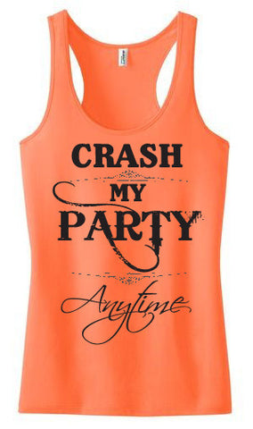 Tank Top - Crash My Party - Wedding Favors Plus