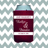 Wedding Can Insulators - Just Married  - Qty. 100 - Wedding Favors Plus - 1