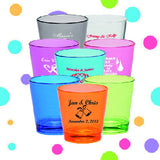 Shot Glasses - Names and date - Qty.72 - Wedding Favors Plus - 1