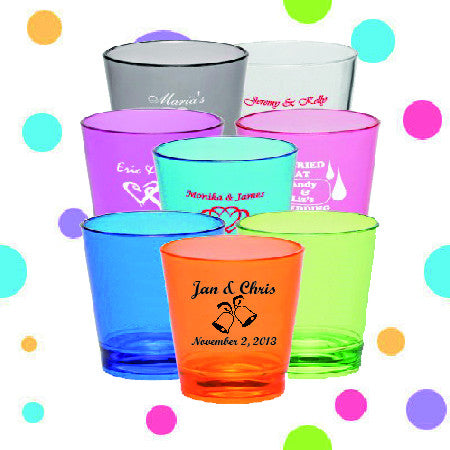 Shot Glasses - Names and date - Qty. 36 - Wedding Favors Plus - 1