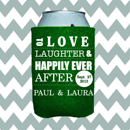 Wedding Can Insulators - Love Laughter and Happily Ever After  - Qty. 150 - Wedding Favors Plus - 1
