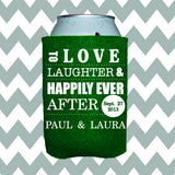 Wedding Can Insulators - Love Laughter and Happily Ever After  - Qty. 25 - Wedding Favors Plus - 1