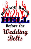 T-Shirt - Raising Hell Before the Wedding Bells - Wedding Favors Plus - 2