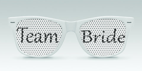Personalized Wedding Sunglasses - Team Bride and Team Groom - Qty. 25 - Wedding Favors Plus - 1