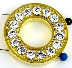 1 2 hole large art deco style slider bead 9297-h15