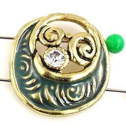 1 beautiful unique 2 hole slider beads 9854-i2