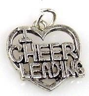 1 cheerleading charms charm silver  9392-H1