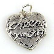 1 cheerleading cheer mom charms silver 9390-f14