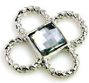 1 delightful large lucite silver connector bead 10530-N1