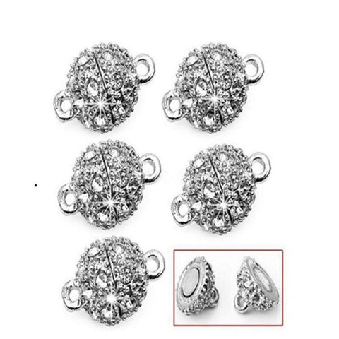 1_Pc_Clasp_Fastener__Clear_Rhinestone_Single_Strand_Clasps