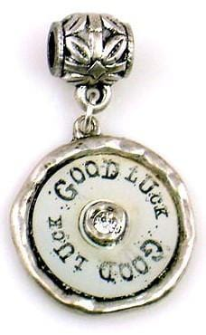 1 pewter good luck charm 9121-M2