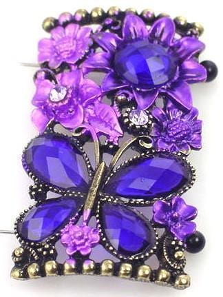 1 pretty butterfly floral focal bead 8433-H12