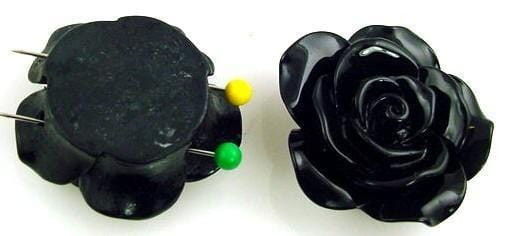 1 rose 2 hole slider bead 10349-BOX