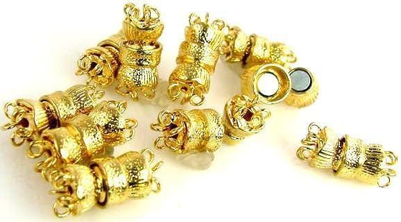 10-bright-gold-5-strand-round-Magnetic-clasps-closures-6041-CL4