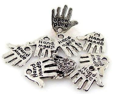 10 charms that state 1 hole  Hand Made 4585-BOX