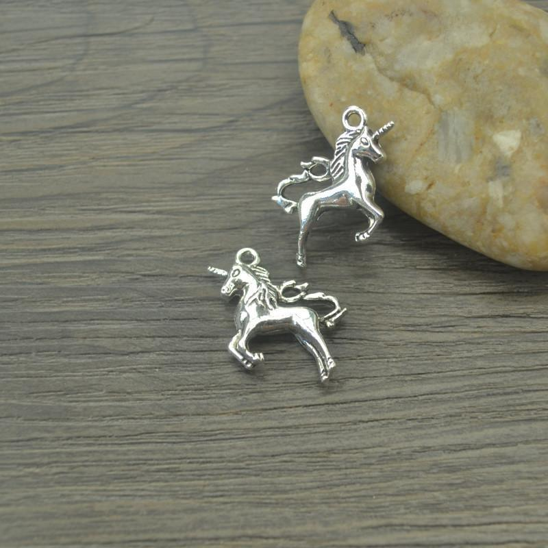 10 pcs Charms metal unicorn 27*17mm