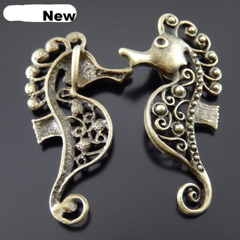 10 PCs Charms Sea Horse 1.3mm Charms