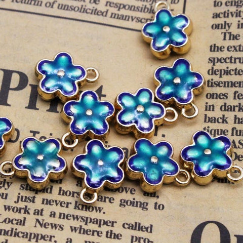 10_pcs_Cloisonne_Spacer_Beads_Flower_with_Charms