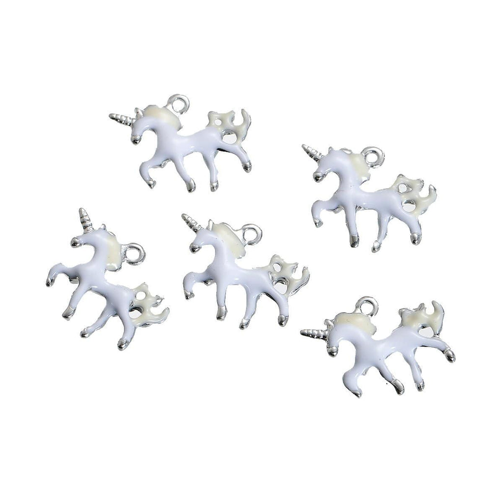 10_pcs_Silver_Unicorn_Charms__20*16mm