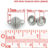 10 Sets Silver Magnetic Clasps  13x8.5mm High - mobile-boutique.com