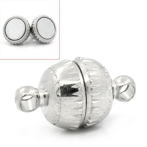 10_Sets_Silver__Magnetic_Clasps_Findings_14x8mm