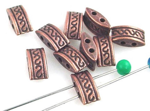 10-Tribal-Style-Antique-Copper--2-hole-slider-beads-10946-N1