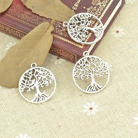 10pcs  Silver Plated Tree of life Charms  29*26mm