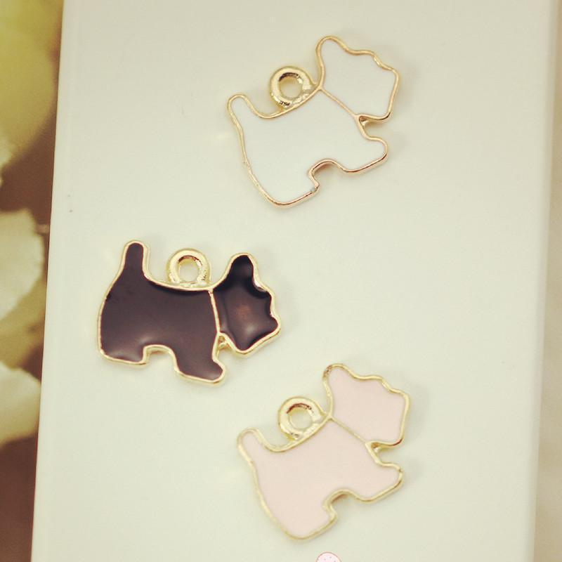 10pcs/lot_PUPPY_dog_size_14*11_mm_Charms