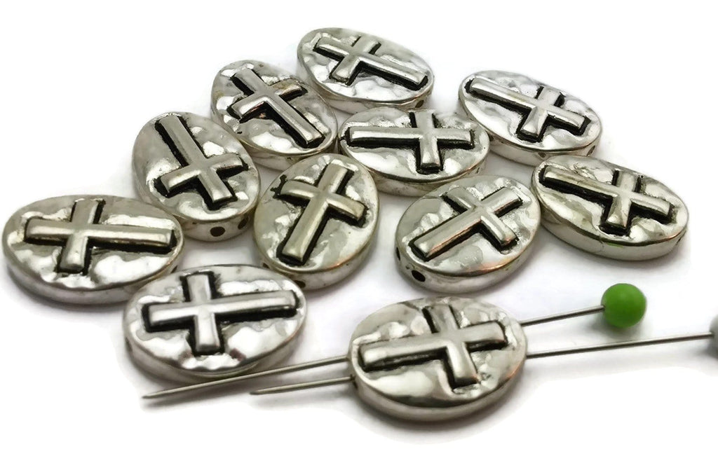 11_Christian_Hammered_Bright_Silver_2_Hole_Beads_M176-N2