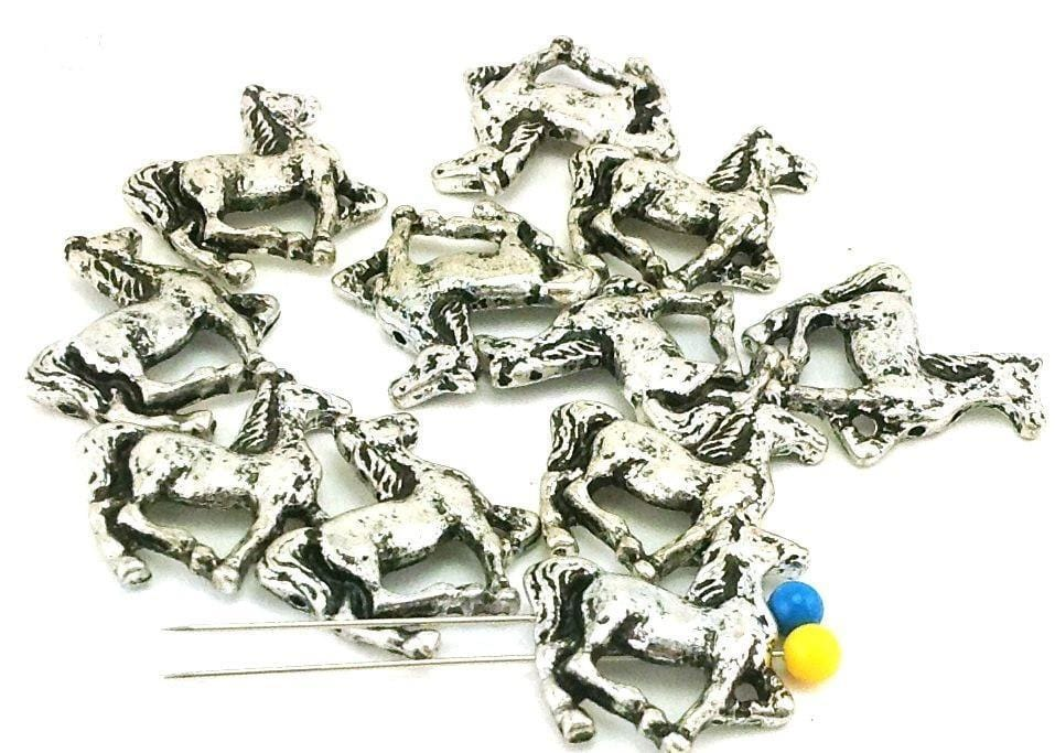 11 horse unique 2 hole slider beads mb11349-R1