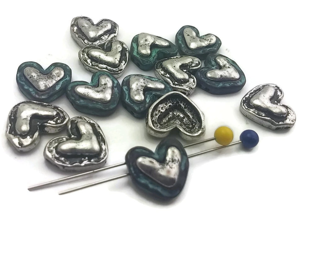14_Patina_and_Antique_Silver_Hearts_with_Hammer_Affect_2_Hole_Slider_Beads_11343