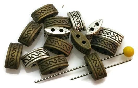 14 spacer bar beads with aztec detailing m157-h5