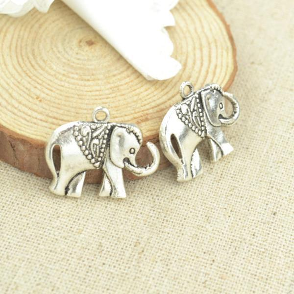 15 pcs 25*21 mm antique silver Elephant Charms
