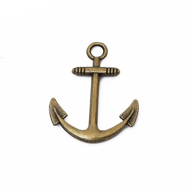 15 pcs antique bronze color anchor charms diy 31*25mm