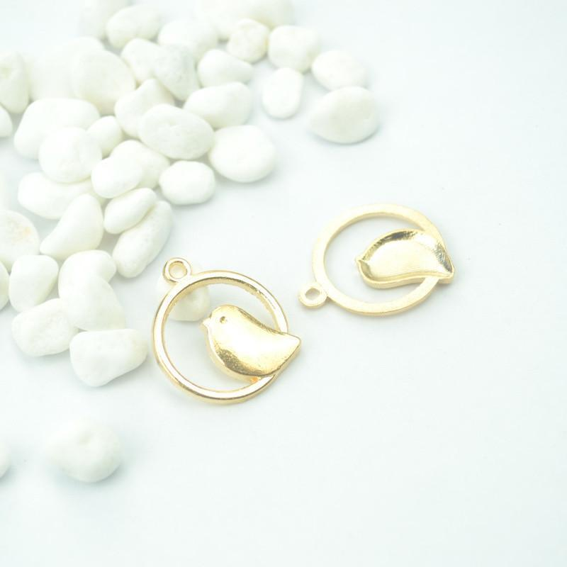 15_pcs_Bright_Gold_Charms_Birds_24*21mm